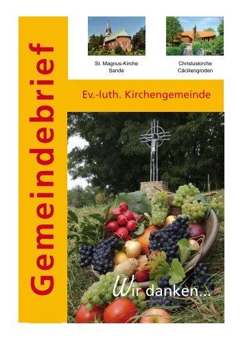 Gemeindebrief Oktober/November 2008 - Evangelisch-lutherischen ...