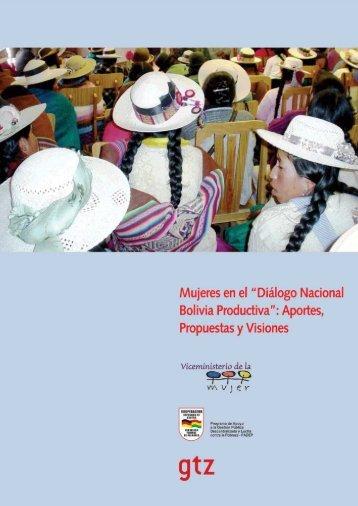 """Mujeres en el """"Diálogo Nacional Bolivia Productiva"""": Aportes ..."""