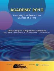 AcAdemy 2010 - National Pest Management Association