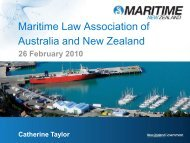 Maritime Regulatory Framework - Maritime Law Association of ...