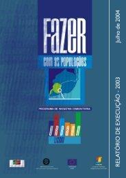 Relatório de Execução 2003 - CCDR-LVT