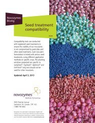 Seed treatment compatibility - Novozymes