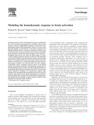 Modeling the hemodynamic response to brain activation