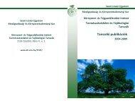 Tanszéki publikációk - Környezet és Tájgazdálkodási Intézet - Szent ...