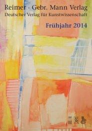 Frühjahr 2014 - Gebr. Mann Verlag