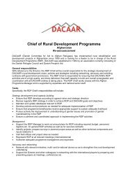 Chief of Rural Development Programme