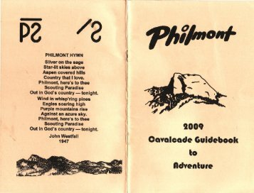 mission statement - philmont scout ranch