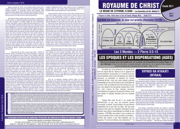christ FRENCHDECEMBER - The Divine Plan of the Ages