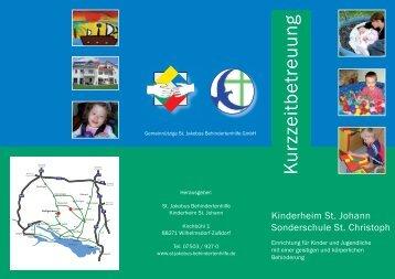 Faltblatt - Kurzzeitbetreuung herunterladen - St. Jakobus ...