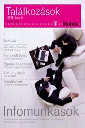 Találkozások magazin 2009. január - T-Mobile