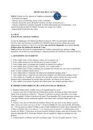 DEPISTAGE DE L'AUTISME CHAT (Check list For Autism in Toddlers)