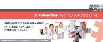 LA FORMATION TOUT AU LONG DE LA VIE - Anfh