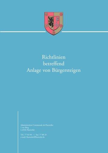 Richtlinien Bürgerst.qxd - Flaxweiler