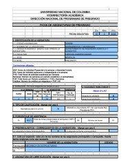 Herramientas y Materiales - Universidad Nacional de Colombia