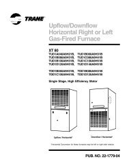 Trane Product Data Upflow/Downflow Horizontal Right or Left Gas ...