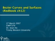 Bezier Curves and Surfaces (Redbook ch12)