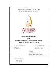 self-study report for commission on english language ... - AUK