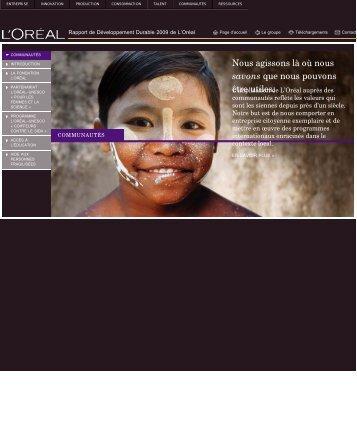 Télécharger la partie Communautés (PDF) - Rapport de ...
