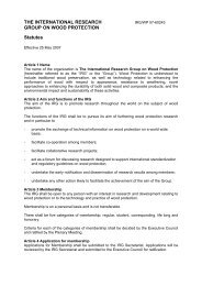 Statutes of the IRG - IRG. International Research Group on Wood ...