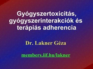Gyógyszertoxicitás, gyógyszerinterakciók és terápiás adherencia