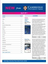 Newsletter April 2011 - Cambridge University Press India