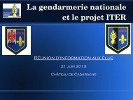 La gendarmerie nationale et le projet ITER