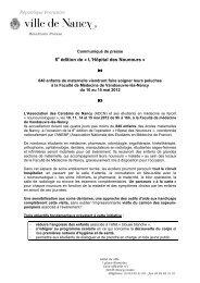 8 édition de « L'Hôpital des Nounours » - Ville de Nancy