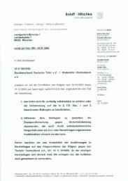 Erwiderungsschreiben vom 29.10.2009 - Kindertafel Glockenbach