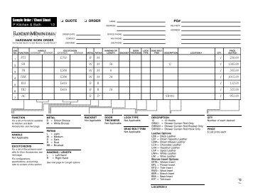 RM Kitchen Bath Price Book - Top Notch Distributors, Inc.