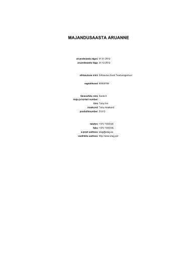 Aruande vaatamine - Sihtasutus Eesti Teadusagentuur