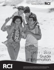 Guide d'information - RCI - the largest timeshare vacation exchange ...