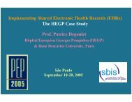 The HEGP Case Study - SBIS