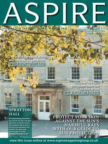 the bbc proms cla game fair protect your skin ... - Aspire Magazine