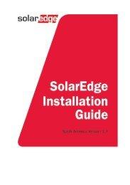 SolarEdge Installation Guide – MAN-01-00002-1.7