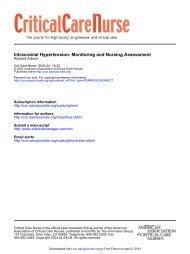 Intracranial Hypertension: Monitoring and Nursing ... - ferronfred.eu