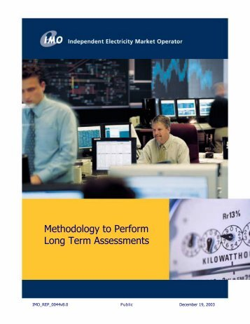 Methodology to - Independent Electricity System Operator