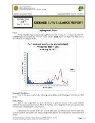 2012 Leptospirosis Week 33 - DOH