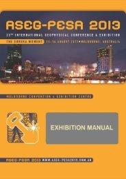 Exhibition Manual - ASEG-PESA 2013