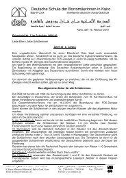 Elternbrief Nr 5 09_10 - DSB | Kairo
