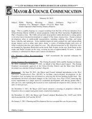 City Manager's Letter - Urban University Interface.com
