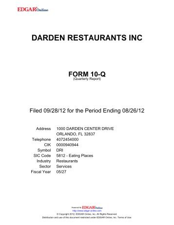 PDF 311 KB - Investor Relations - Darden Restaurants