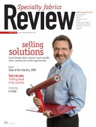 Review, March 2009, Digital Edition - Specialty Fabrics Review