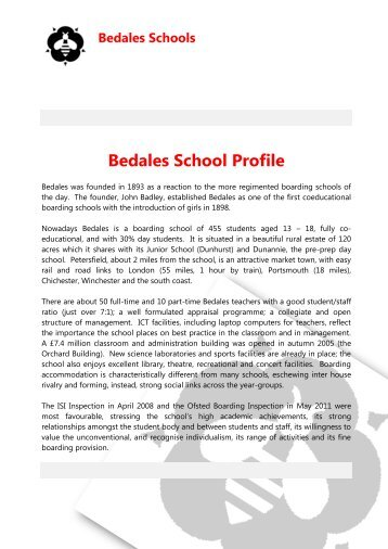 Sickness Absence - Bedales Schools
