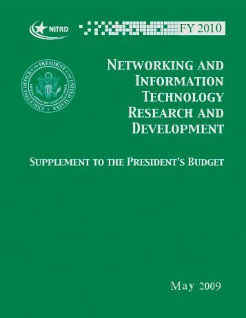FY 2010 Supplement to the President's Budget - nitrd