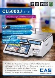 CL5000J Infocard - CAS Waagen Deutschland