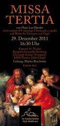 29. Dezember 2011 16:30 Uhr - St. Nicolai