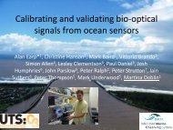 Calibrating and validating bio-optical signals from ocean sensors
