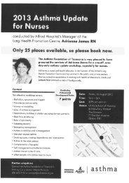 2013 Asthma Update - Tasmania Medicare Local