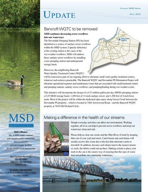 Update Newsletter – April 2013 - MSD