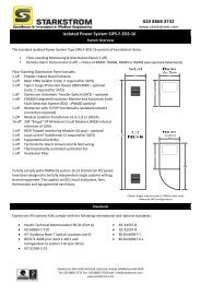 Isolated Power System SIPS-F-EDS-16 - Starkstrom